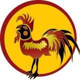 Gallo rojo en marco rojo libre illustration