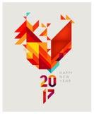 Gallo rojo geométrico Fotografía de archivo libre de regalías