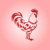 Gallo rojo Ilustración del vector Imagen de archivo