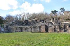 Gallo roman ruins in Lyon, France Stock Photo