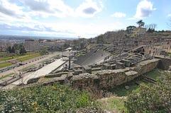 Gallo roman ruins in Lyon, France Stock Photography