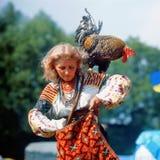 Gallo - símbolo del Año Nuevo Foto de archivo