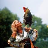 Gallo - símbolo del Año Nuevo Fotografía de archivo