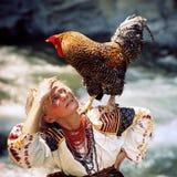 Gallo - símbolo del Año Nuevo Imágenes de archivo libres de regalías