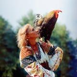 Gallo - símbolo del Año Nuevo Foto de archivo libre de regalías