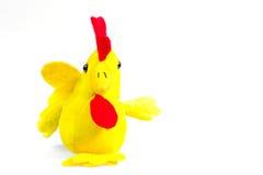 Gallo suave del amarillo del juguete con el pico rojo - símbolo del Año Nuevo Imagenes de archivo