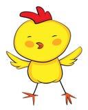 Gallo sveglio del bambino di giallo del fumetto Fotografia Stock