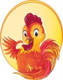 Gallo sveglio del fuoco rosso per il nuovo anno cinese Immagine Stock