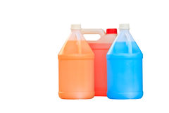 Gallon. Bottle of liquid isolated over a white background royalty free stock photo