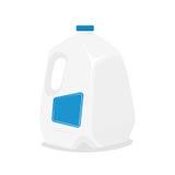 Gallon de vecteur de lait illustration de vecteur