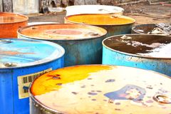 55 gallon drums Royalty Free Stock Photo