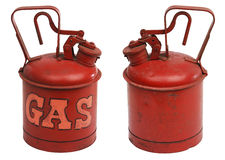 Gallon of gas. Red one gallon metal gas can stock photography