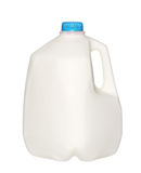 Gallon Milk Bottle with blue Cap Isolated on White Royalty Free Stock Photos