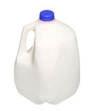 Gallon Milk Bottle with blue Cap Isolated on White Royalty Free Stock Photography