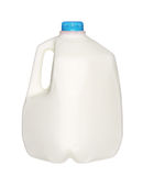 Gallon Milk Bottle with blue Cap Isolated on White Stock Photography