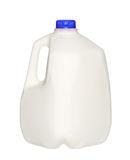 Gallon Milk Bottle with blue Cap Isolated on White Royalty Free Stock Images