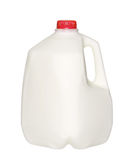 Gallon Milk Bottle with Red Cap Isolated on White. Background royalty free stock image