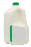 Gallon of Milk with Clipping Path Royalty Free Stock Photos