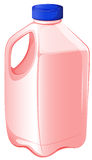 A gallon of strawberry milk Stock Images