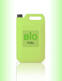 Gallon vert de bio carburant Photos stock