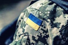 Gallone militare ucraino Immagine Stock