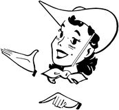 Gallone occidentale royalty illustrazione gratis