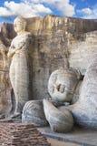 Gallone Vihara, Polonnaruwa, Sri Lanka Fotografie Stock Libere da Diritti