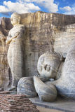 Gallone Vihara, Polonnaruwa, Sri Lanka Lizenzfreie Stockfotos