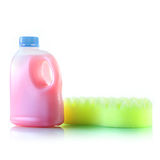 Gallons bottle of pink liquid Royalty Free Stock Images