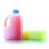 Gallons bottle of pink liquid Royalty Free Stock Photography