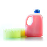 Gallons bottle of pink liquid Royalty Free Stock Photo