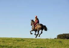 galloping наездник стоковая фотография