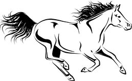 Galloping horse. Simplified  illustration of galloping horse Royalty Free Stock Images
