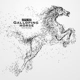 Galloping horse,Many particles,sketch, illustration,The moral development and progress. Galloping horse,Many particles,sketch, illustration,The moral Royalty Free Stock Image