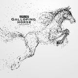Galloping horse,Many particles,sketch,vector illustration,The moral development and progress. Galloping horse,Many particles,sketch,vector illustration,The Royalty Free Stock Photography