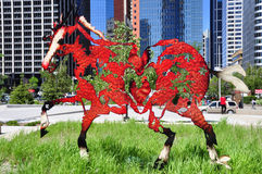 Galloping horses statue Royalty Free Stock Photos