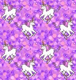 Galloping unicorns wallpaper Royalty Free Stock Images