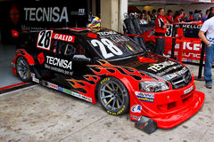 Gallor Fire Racing Stock Car Interlagos Brazil Royalty Free Stock Photography
