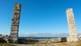 The Gallow hill on a sunny winter day in Visby in Time lapse stock footage