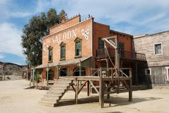 Gallow and saloon in an American town Royalty Free Stock Photography