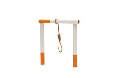 Gallows. Made of cigarettes. Smoking will kill you Royalty Free Stock Photos