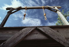 Gallows in Arizona Stock Photography