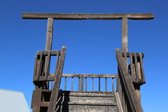 Gallows. In the Arizona desert Royalty Free Stock Image