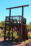 Gallows. In the Arizona desert Stock Images