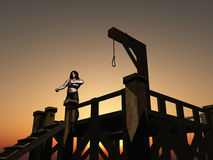 Gallows and hangman Stock Image