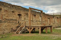 Gallows in medieval fortress Stock Photography