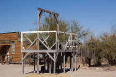 Gallows in an Old Western Town Stock Images
