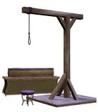 Gallows with a stool Stock Images