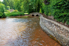 Gallox Bridge, Dunster Stock Image
