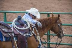 Gallup, Indische Rodeo Royalty-vrije Stock Afbeeldingen